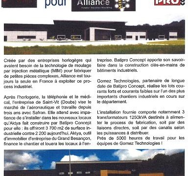 Article Gomez Technologies pour Alliance Juin 2015