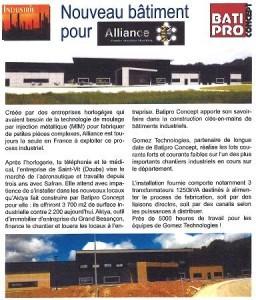 Article Gomez Technologies pour Alliance Juin 2015